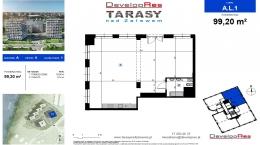 Tarasy Nad Zalewem, budynek A, lokal handlowy 99,20 m2