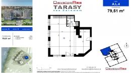 Tarasy Nad Zalewem, budynek A, lokal handlowy 79,51 m2
