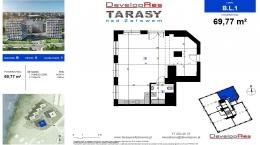Tarasy Nad Zalewem, budynek B, lokal handlowy 69,77 m2