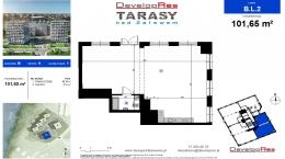 Tarasy Nad Zalewem, budynek B, lokal handlowy 101,65 m2