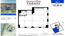 Tarasy Nad Zalewem, budynek B, lokal handlowy 121,34 m2