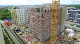 Zaawansowanie prac na budynku D6/D7 - Osiedle Zawiszy