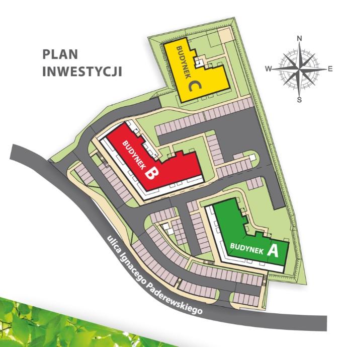 Plan osiedla Paderewskiego Park
