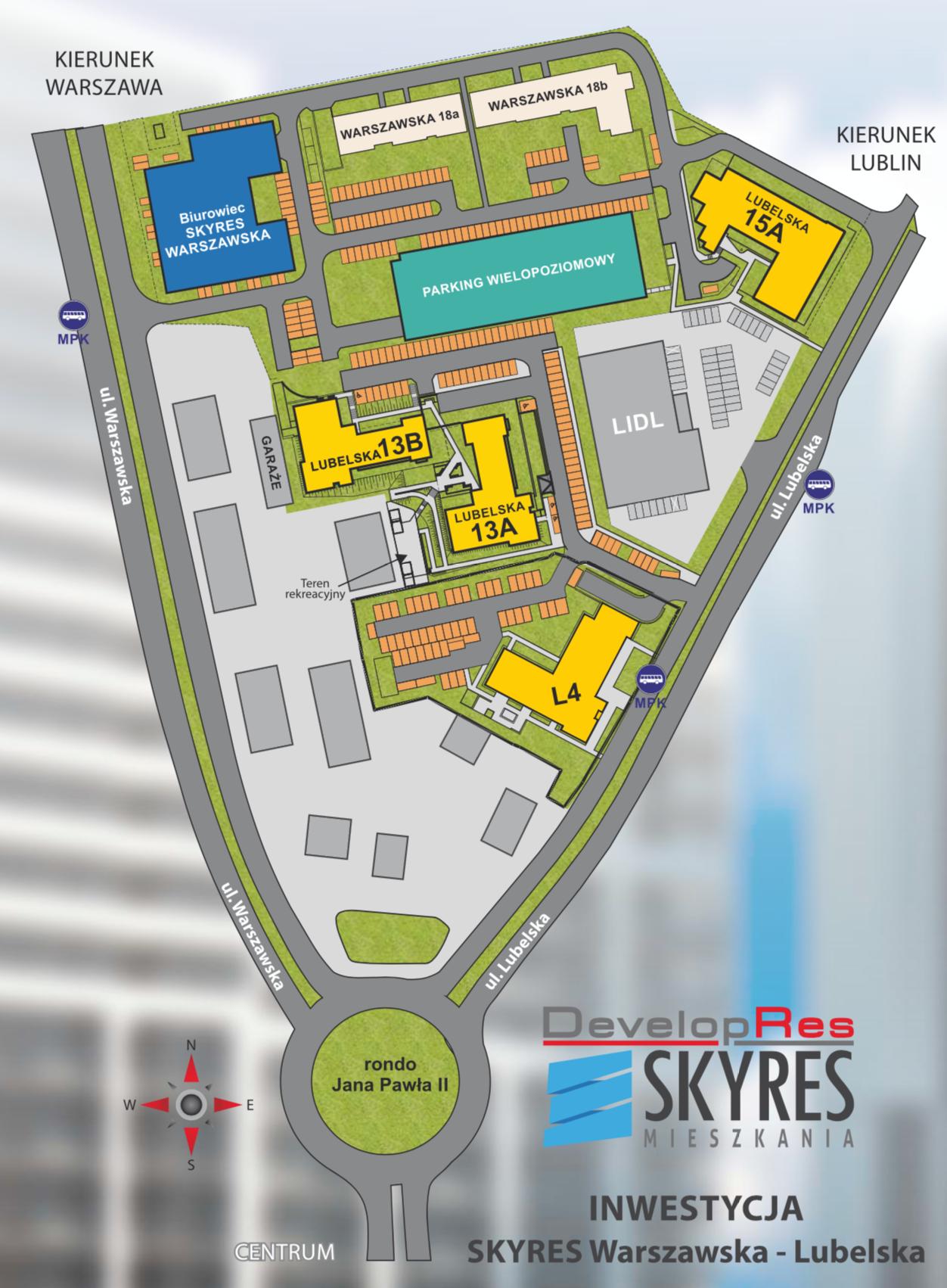 Plan osiedla SkyRes Mieszkania