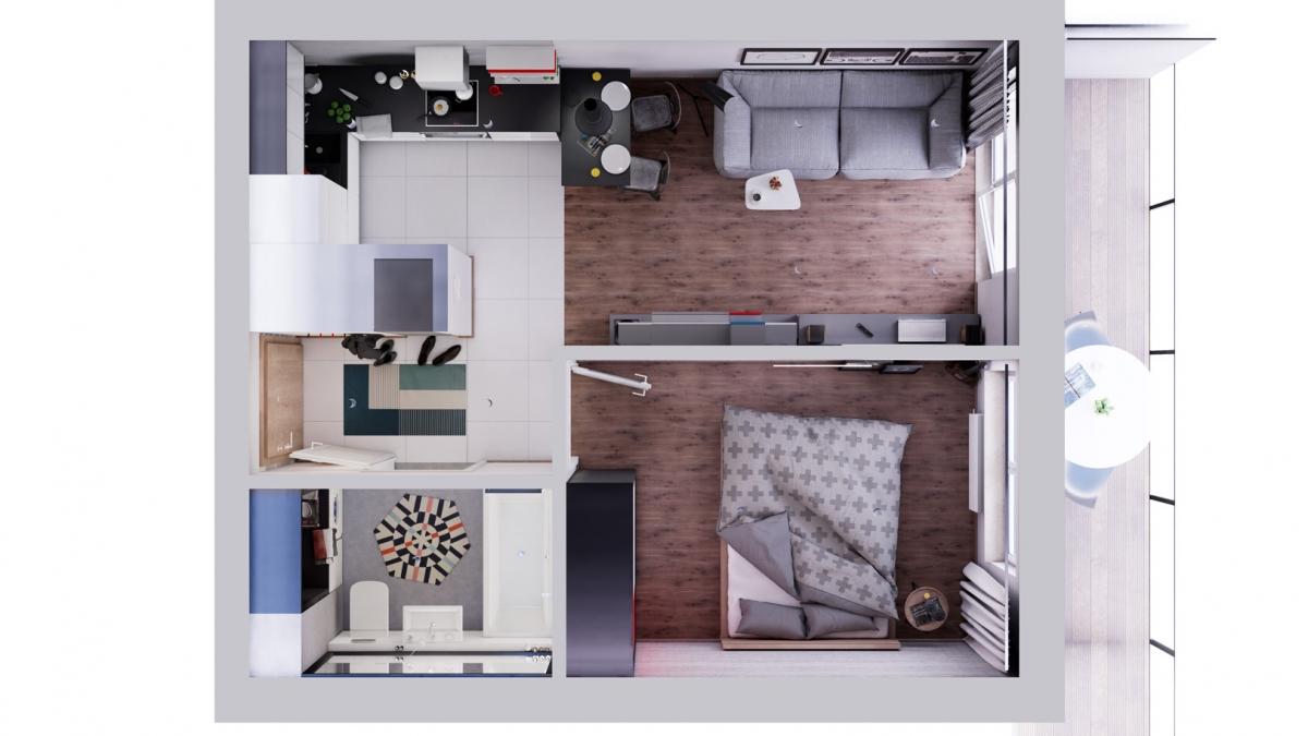 Mieszkanie 34,77 m2, Warszawska/Lubelska, Rzeszów