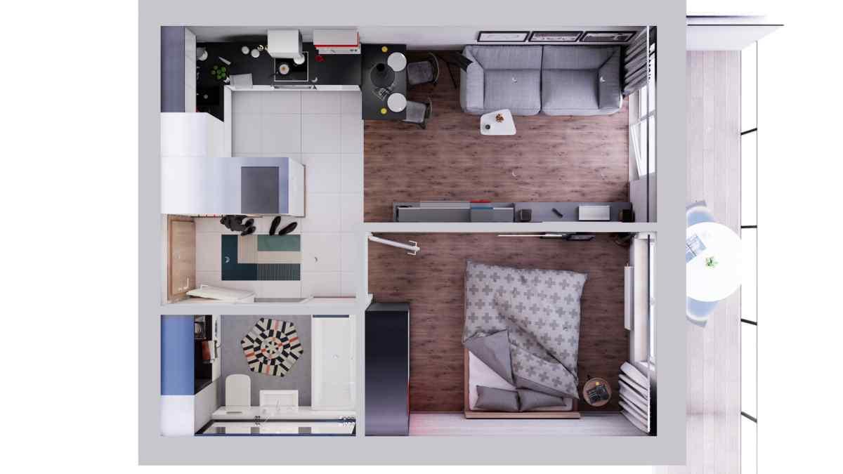 Mieszkanie 34,91 m2, Warszawska/Lubelska, Rzeszów