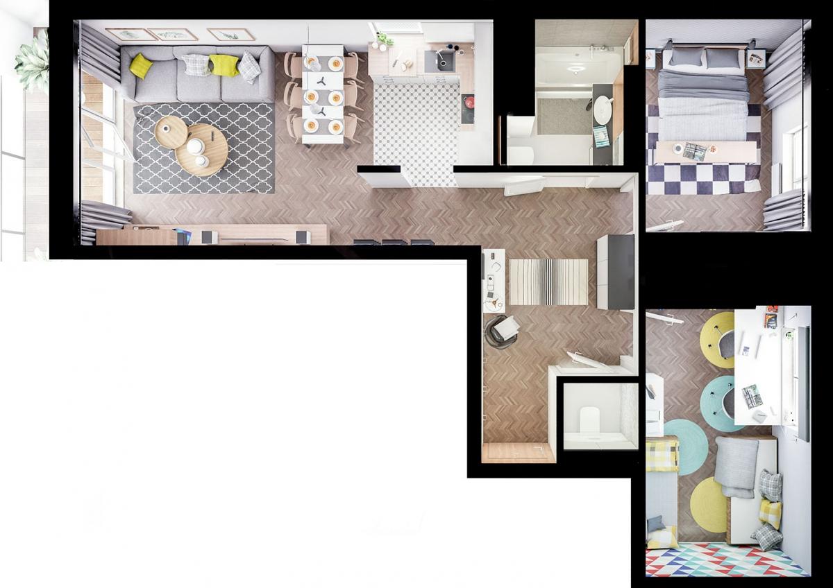 Mieszkanie 67,18 m2, Warszawska/Lubelska, Rzeszów