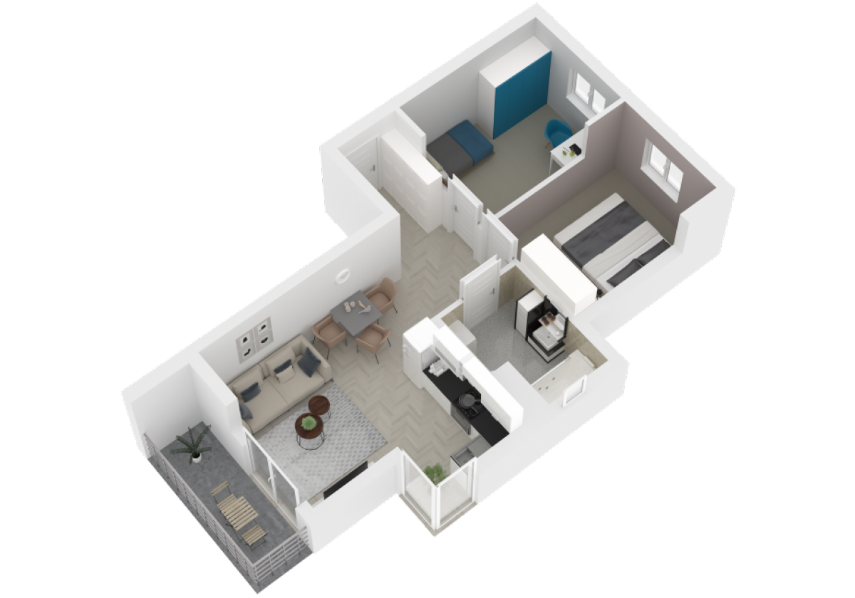 Mieszkanie 52,37 m2, Zaciszna 5, Rzeszów