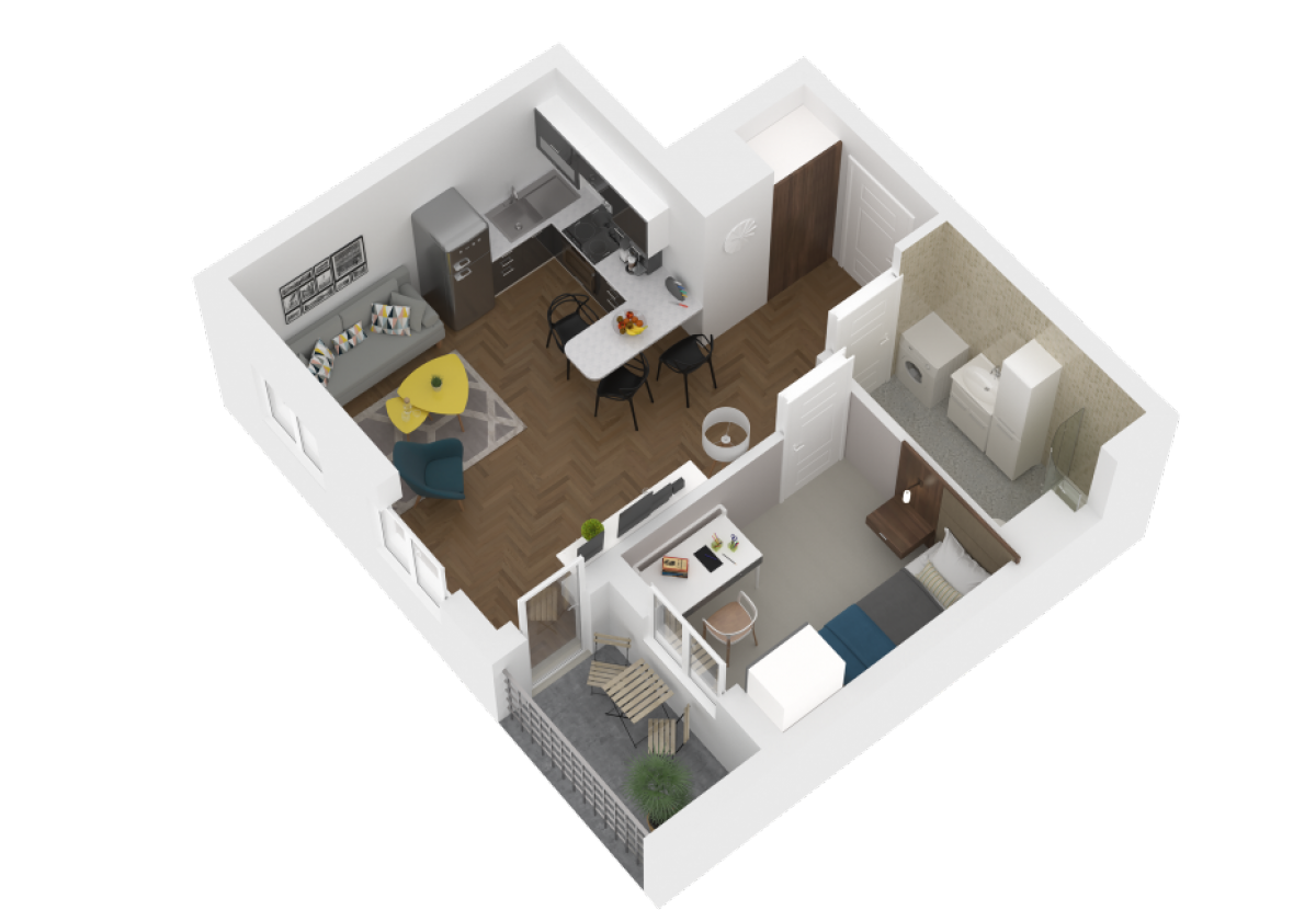 Mieszkanie 36,76 m2, Zaciszna 5, Rzeszów