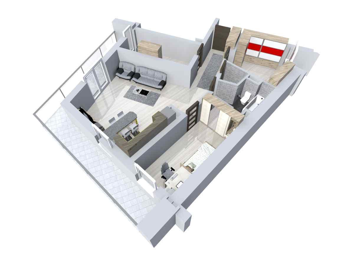 Mieszkanie 87,4 m2, Zaciszna 5, Rzeszów