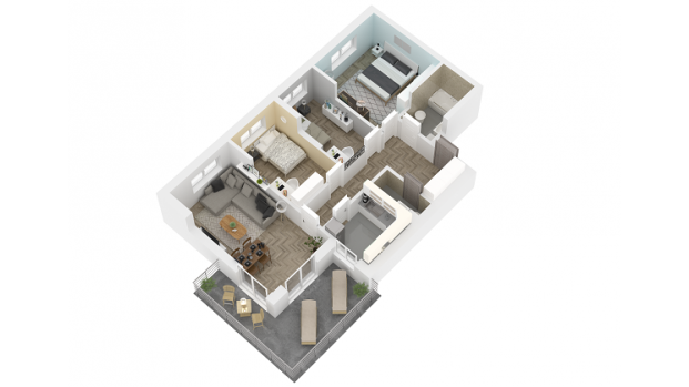 Mieszkanie 85.36 m2