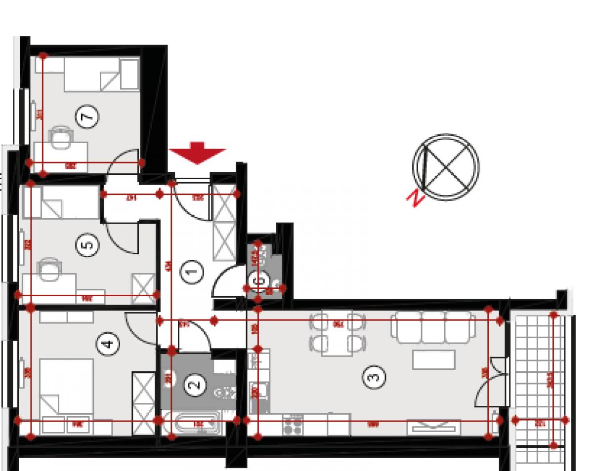 Mieszkanie 68,45 m2, Lubelska, Rzeszów