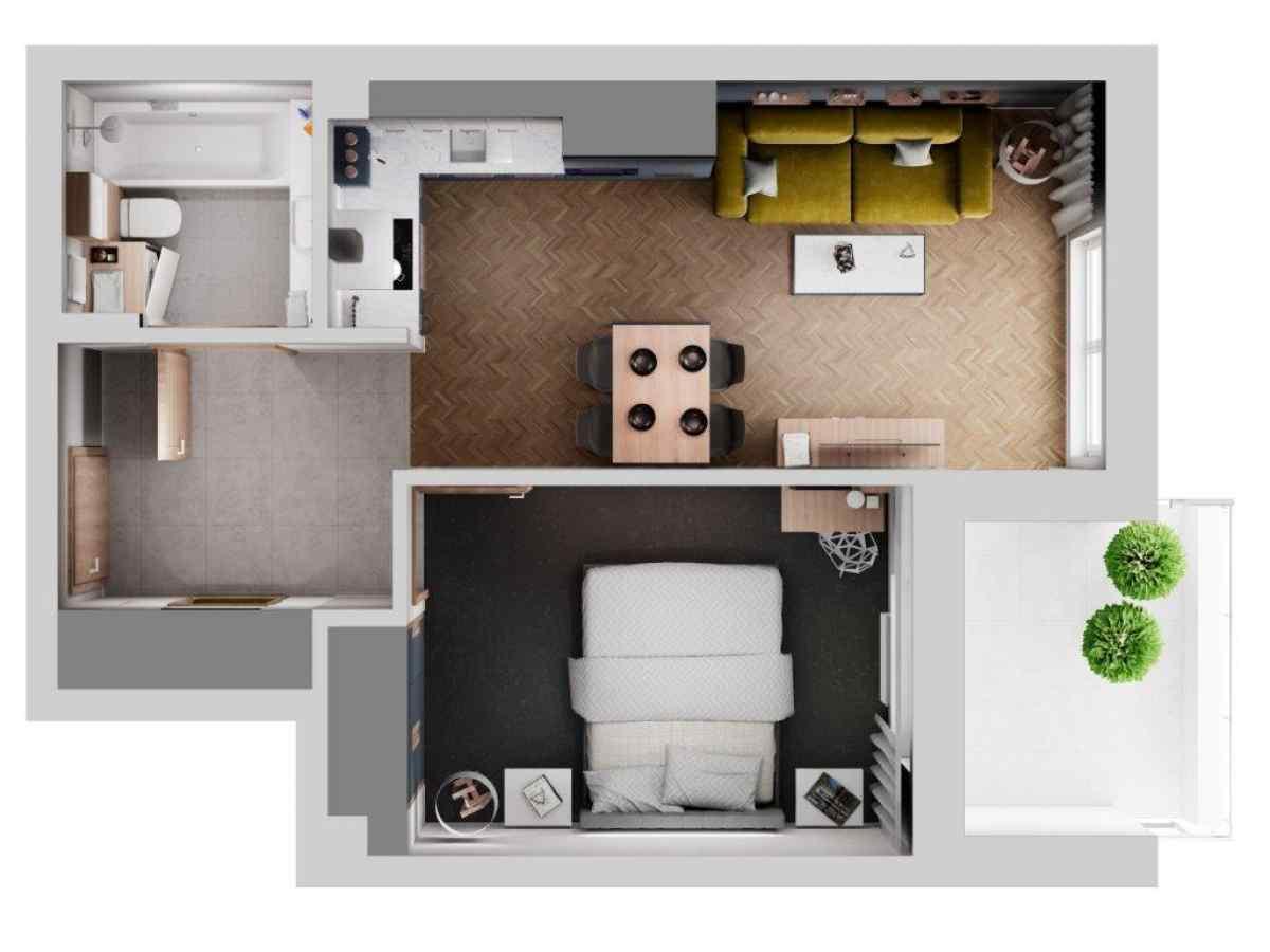 Mieszkanie 40,44 m2, Lubelska, Rzeszów
