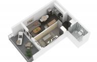 Mieszkanie 37,02 m2, Lubelska, Rzeszów