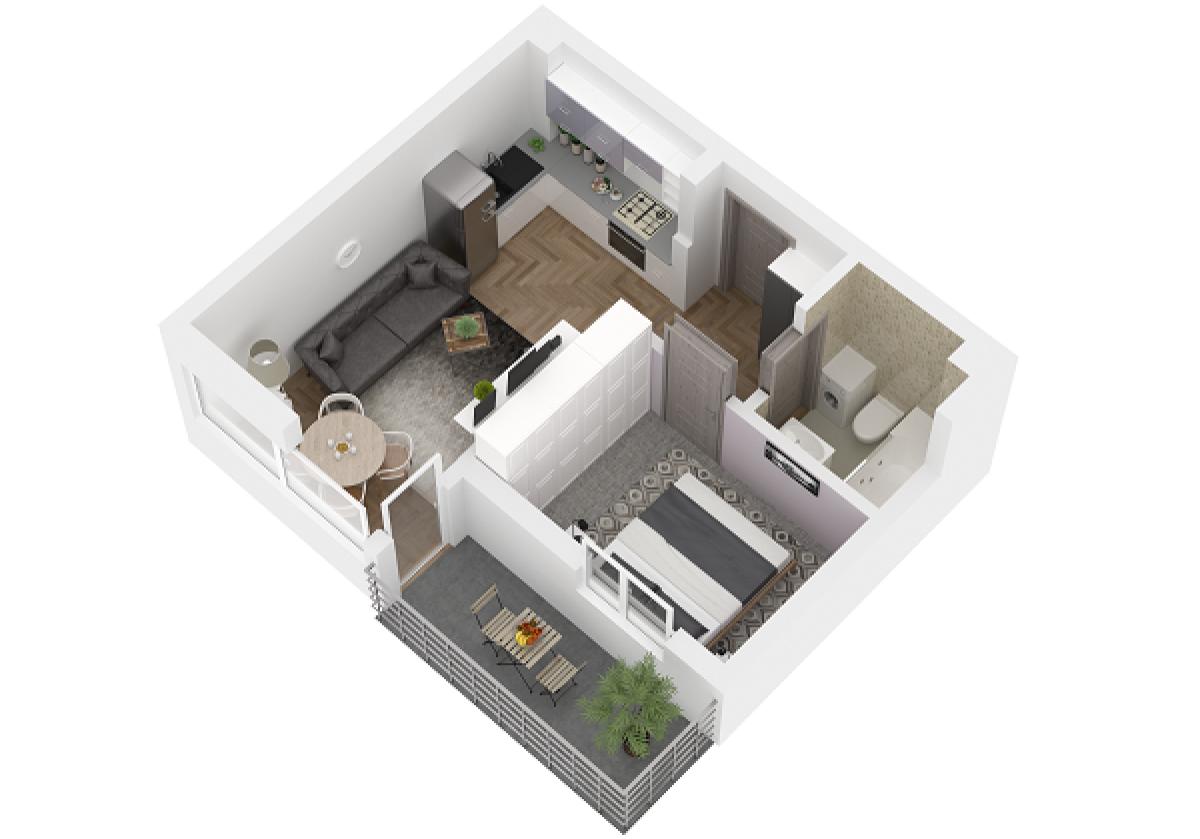 Mieszkanie 34,44 m2, Lubelska, Rzeszów