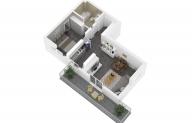 Mieszkanie 45,38 m2, Lubelska, Rzeszów