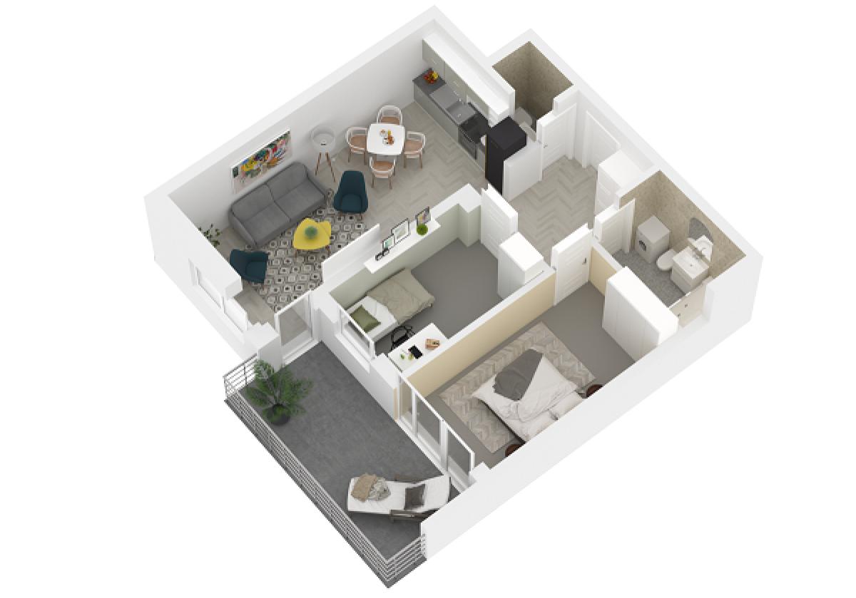 Mieszkanie 55,46 m2, Lubelska, Rzeszów