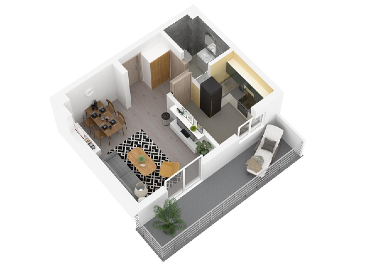Mieszkanie 30,44 m2, Lubelska, Rzeszów