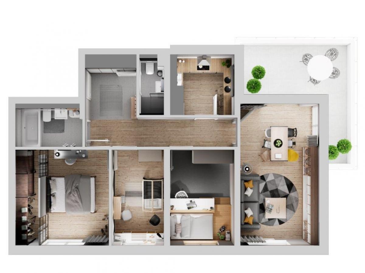 Mieszkanie 85,51 m2, Lubelska, Rzeszów