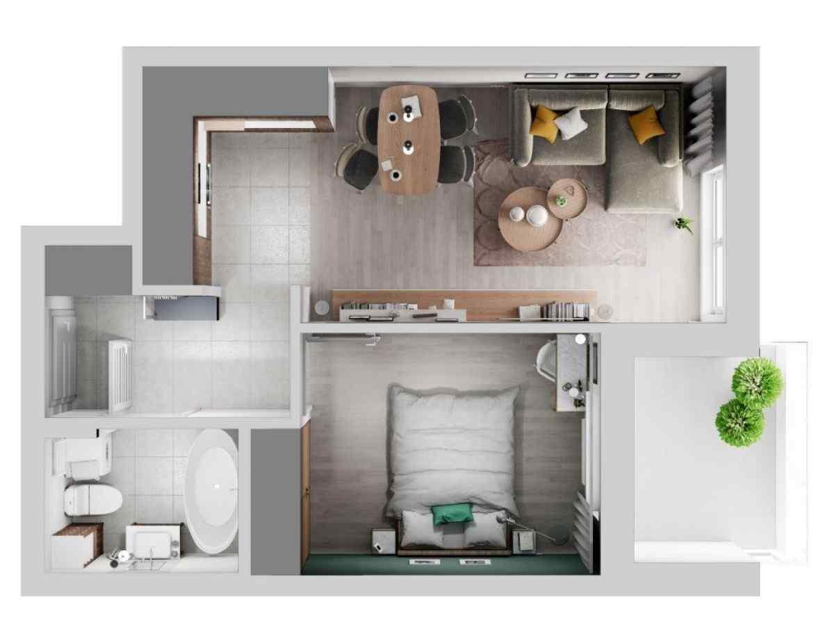 Mieszkanie 40,79 m2, Lubelska, Rzeszów
