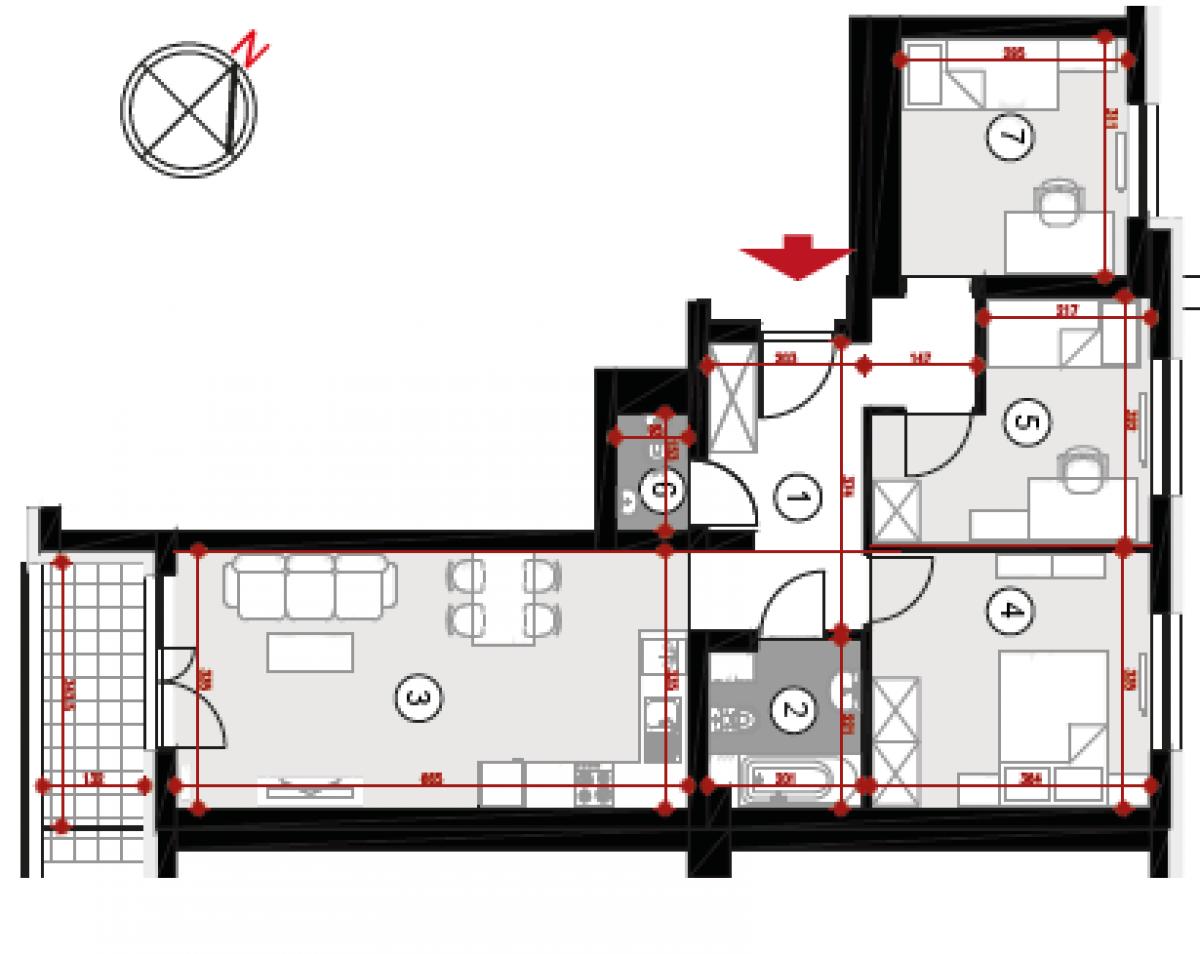 Mieszkanie 67,52 m2, Lubelska, Rzeszów
