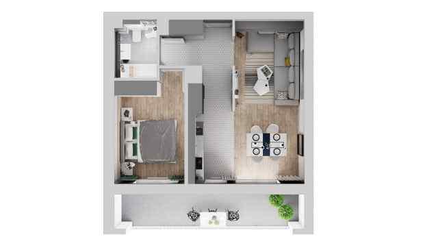 Mieszkanie 47.02 m2