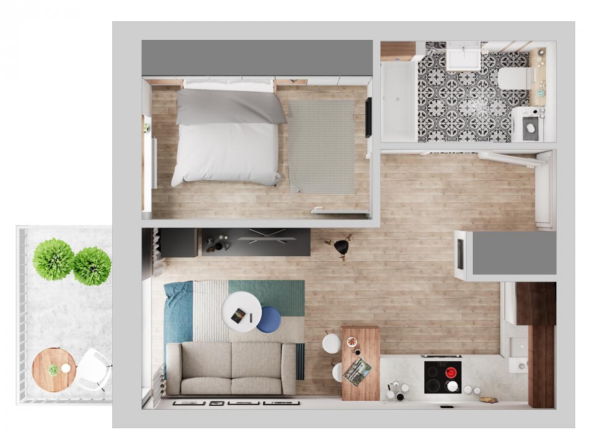 Mieszkanie 33,86 m2, Warszawska/Lubelska, Rzeszów