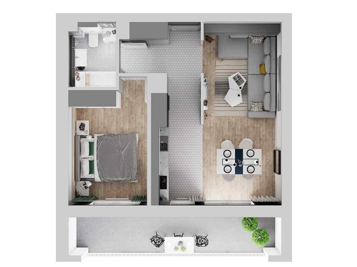 Mieszkanie 47,2 m2, Warszawska/Lubelska, Rzeszów