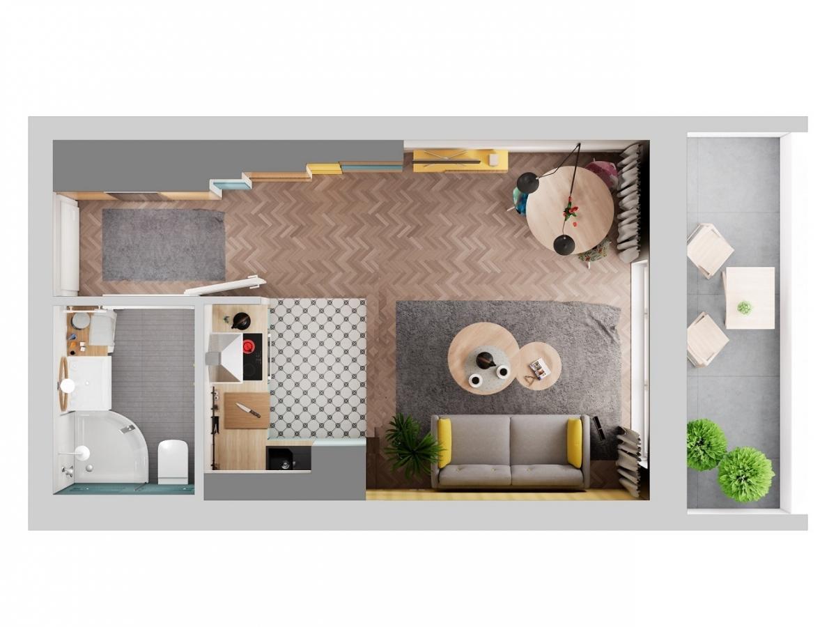 Mieszkanie 27,81 m2, Warszawska/Lubelska, Rzeszów