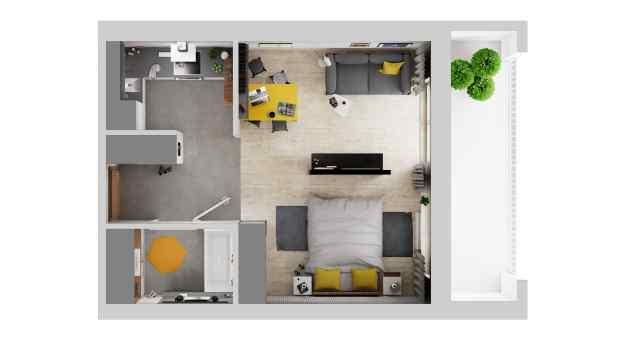 Mieszkanie 35.88 m2