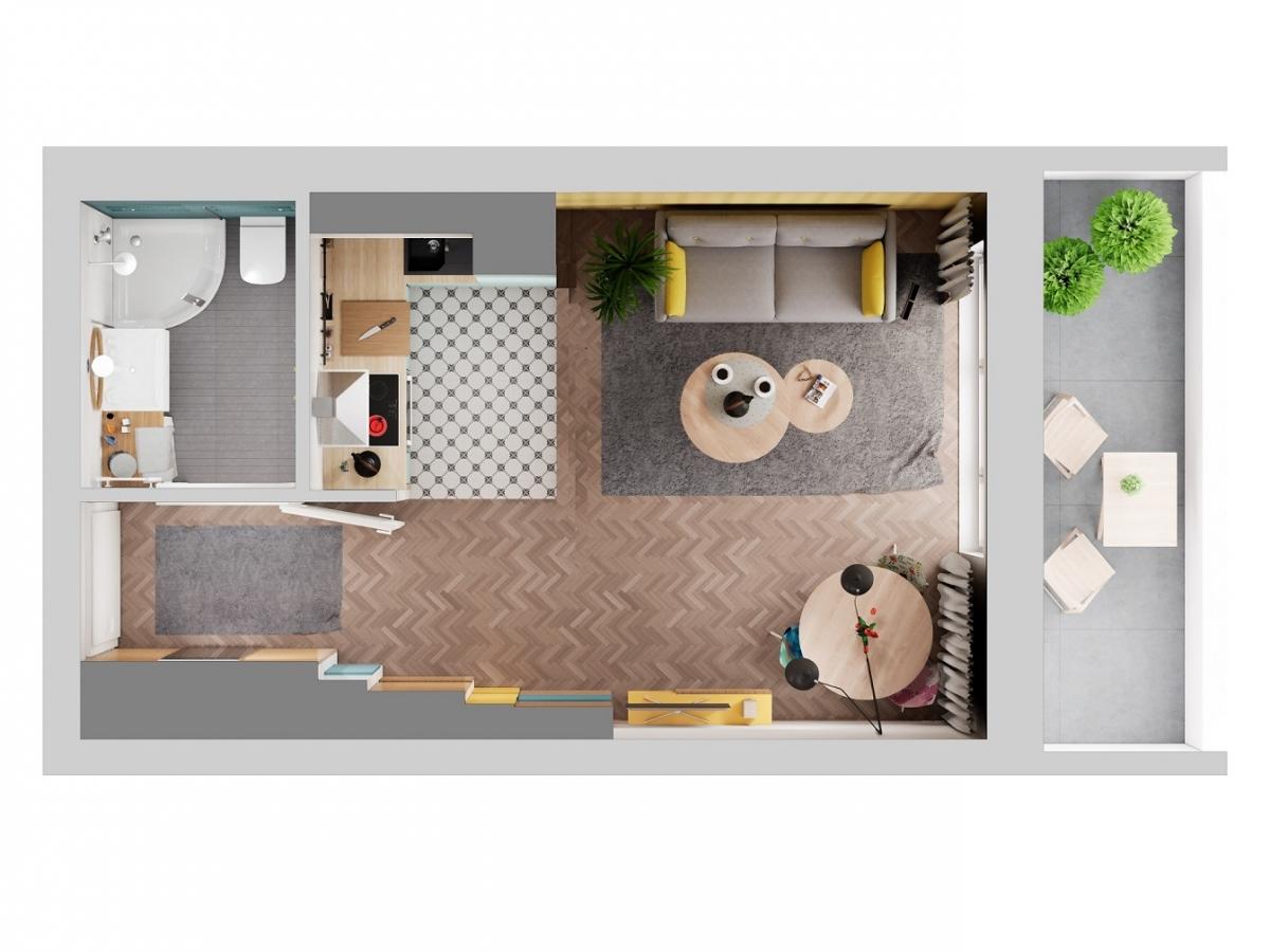 Mieszkanie 27,77 m2, Warszawska/Lubelska, Rzeszów