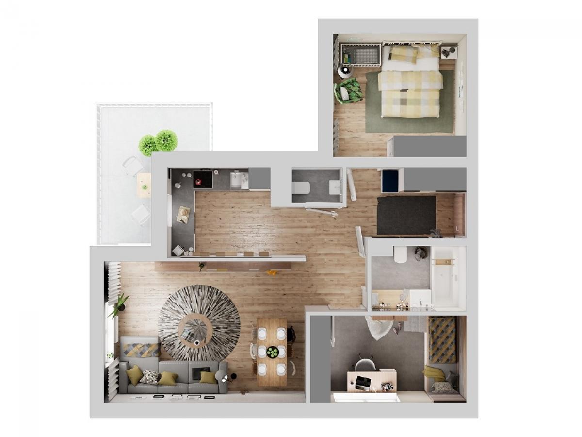 Mieszkanie 68,53 m2, Warszawska/Lubelska, Rzeszów