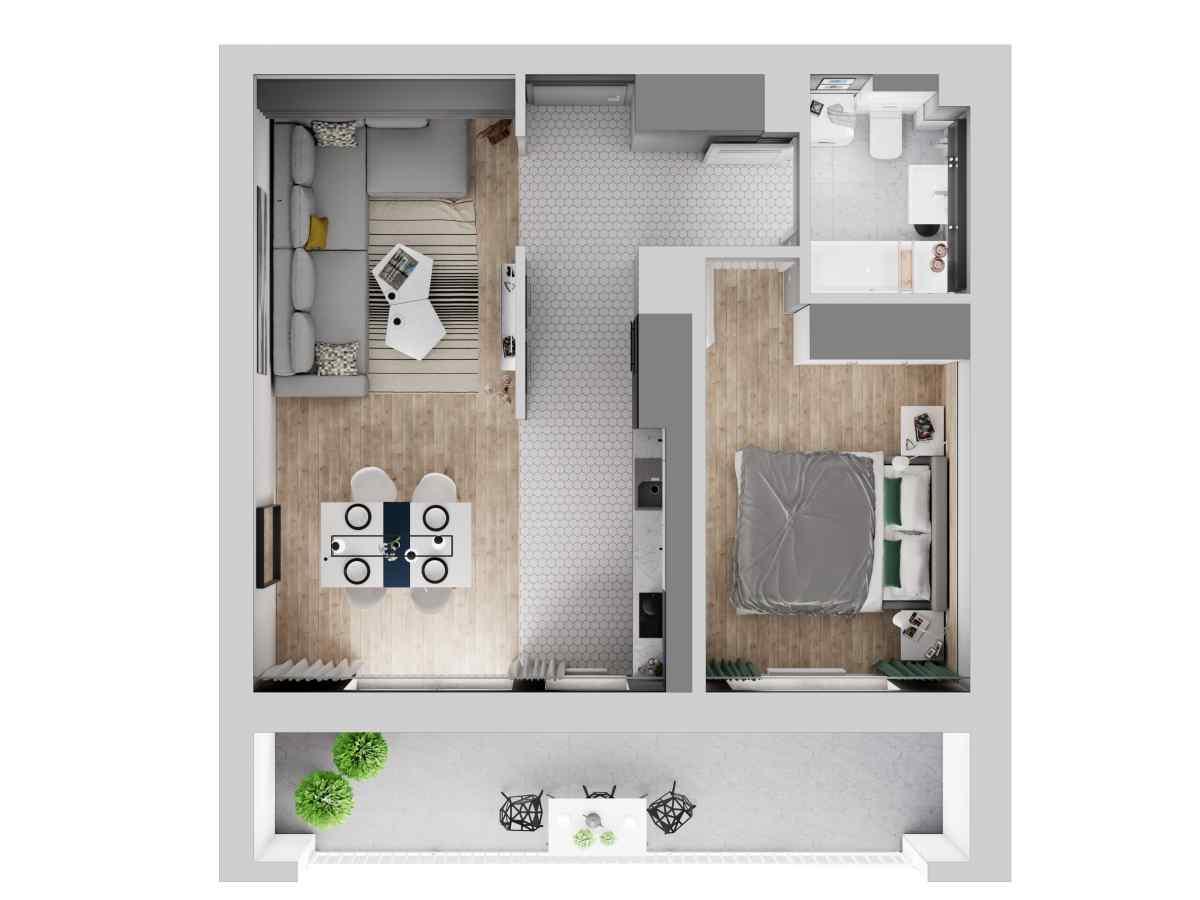 Mieszkanie 48,08 m2, Warszawska/Lubelska, Rzeszów