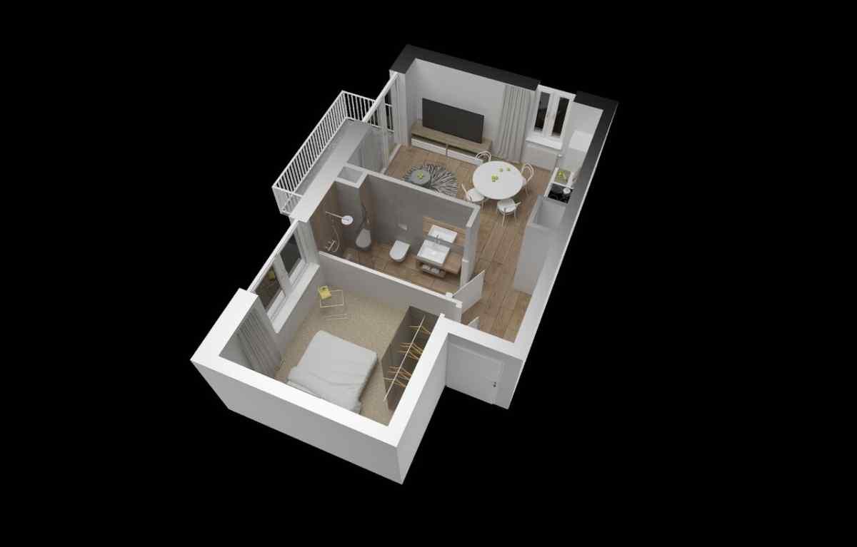 Mieszkanie 34,44 m2, Warszawska/Lubelska, Rzeszów