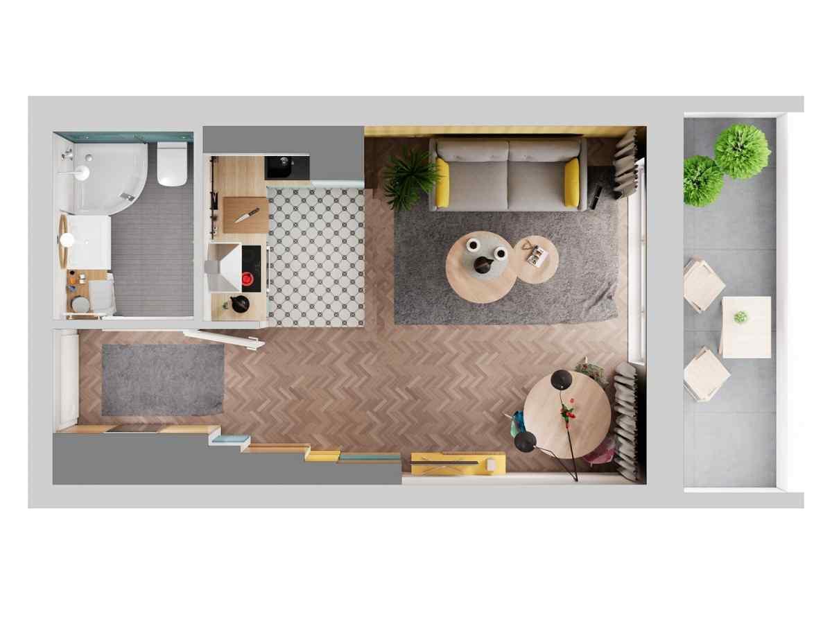 Mieszkanie 28,42 m2, Warszawska/Lubelska, Rzeszów