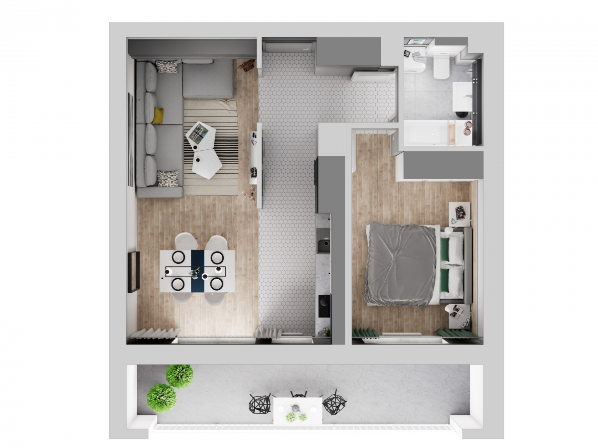 Mieszkanie 47,07 m2, Warszawska/Lubelska, Rzeszów