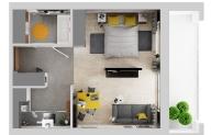 Mieszkanie 36,01 m2, Warszawska/Lubelska, Rzeszów