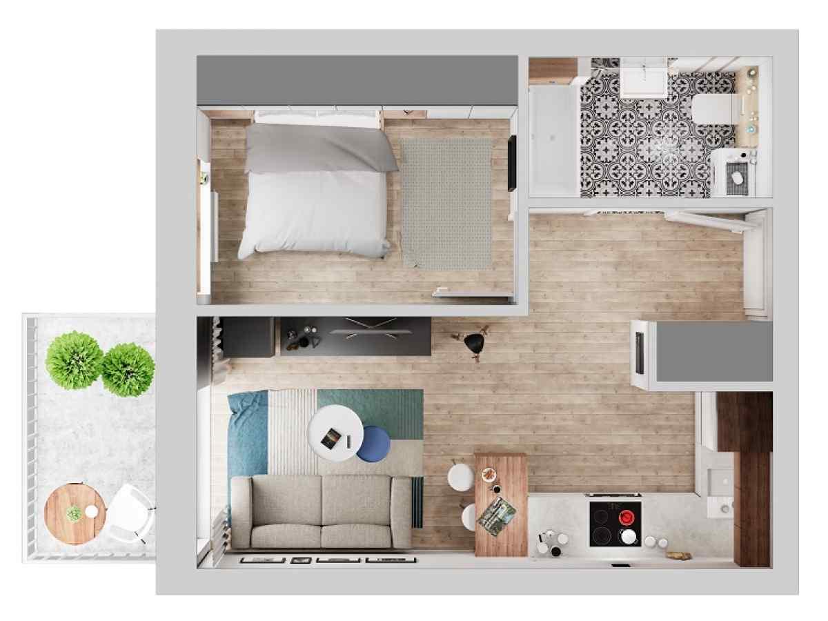 Mieszkanie 34,32 m2, Warszawska/Lubelska, Rzeszów