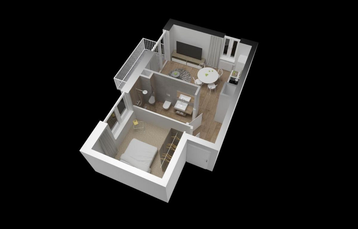 Mieszkanie 34,41 m2, Warszawska/Lubelska, Rzeszów