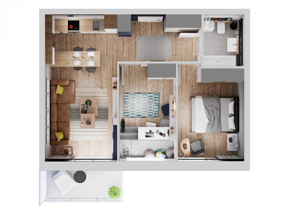 Mieszkanie 57,83 m2, Warszawska/Lubelska, Rzeszów