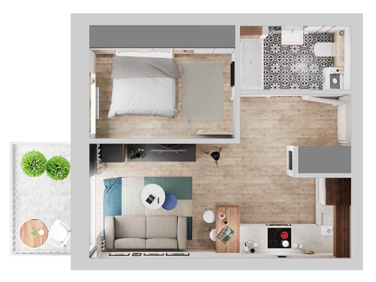 Mieszkanie 34,34 m2, Warszawska/Lubelska, Rzeszów