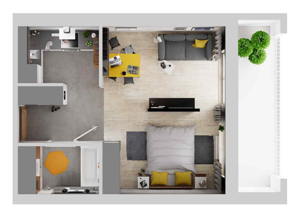 Mieszkanie 36,49 m2, Warszawska/Lubelska, Rzeszów