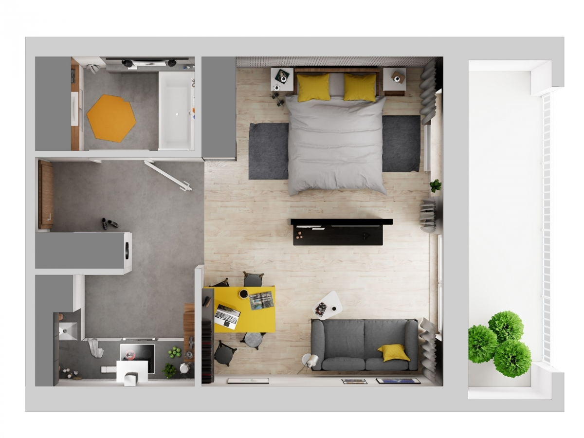 Mieszkanie 36,92 m2, Warszawska/Lubelska, Rzeszów