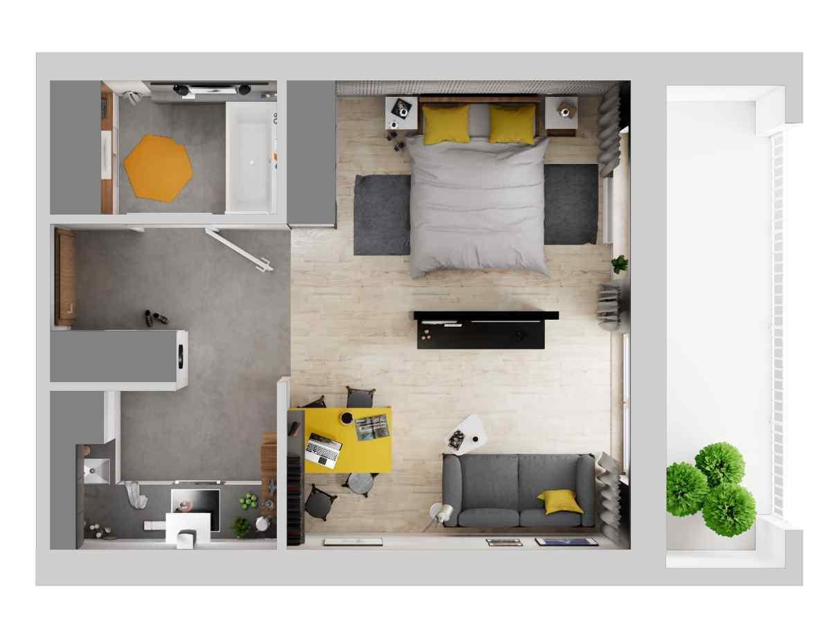 Mieszkanie 36,97 m2, Warszawska/Lubelska, Rzeszów