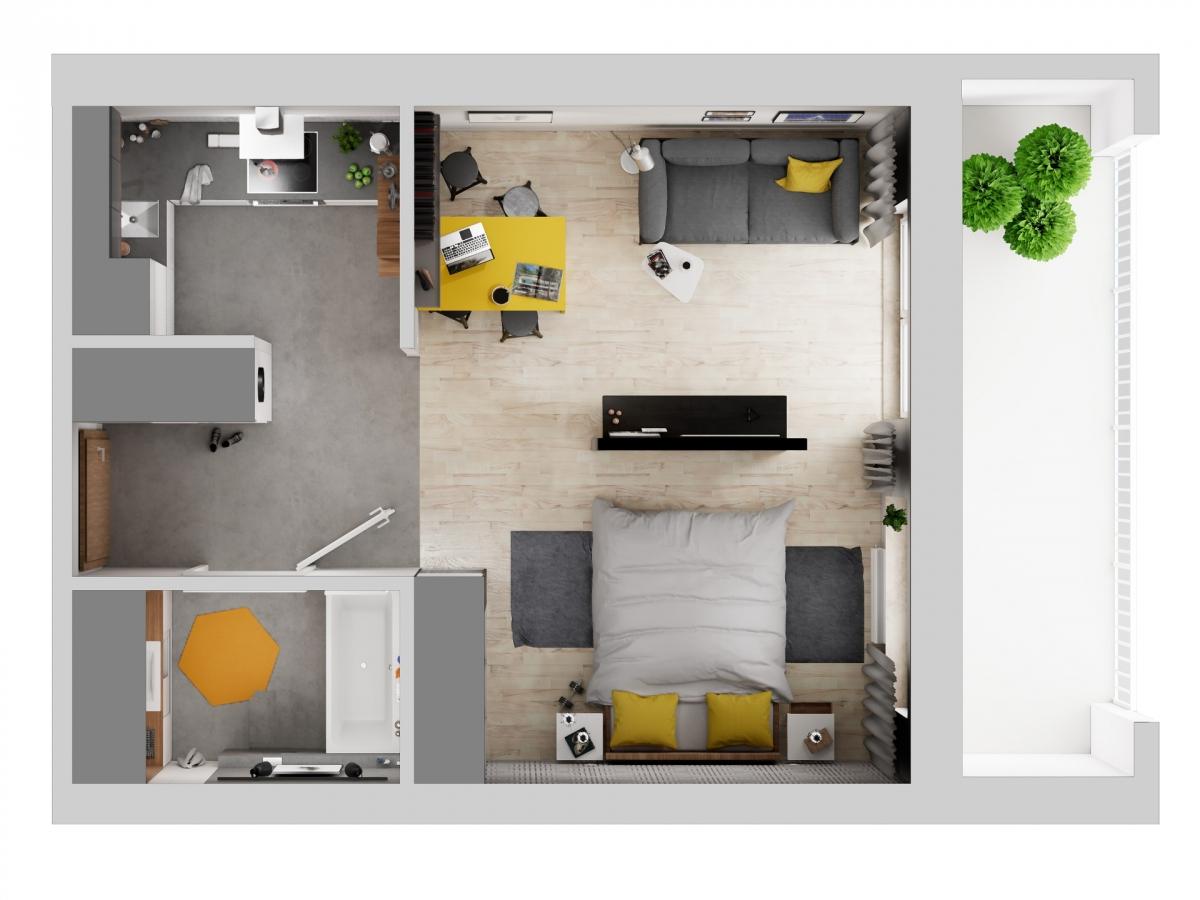 Mieszkanie 36,63 m2, Warszawska/Lubelska, Rzeszów