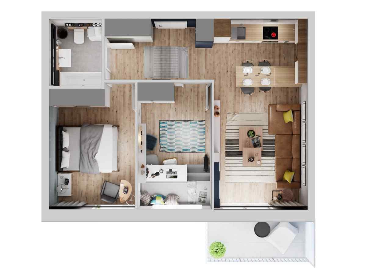 Mieszkanie 57,01 m2, Warszawska/Lubelska, Rzeszów