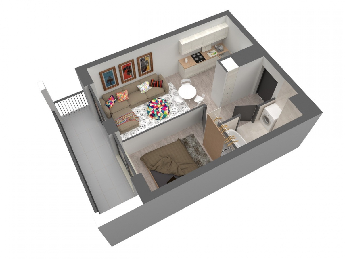 Mieszkanie 35,89 m2, Warszawska/Lubelska, Rzeszów