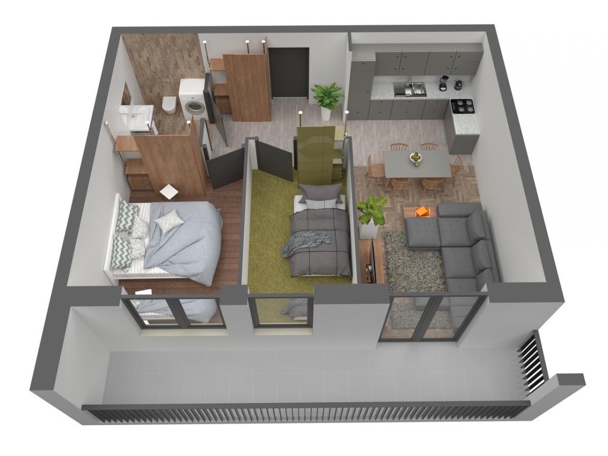 Mieszkanie 56,71 m2, Warszawska/Lubelska, Rzeszów