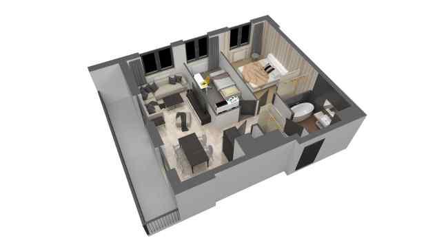 Mieszkanie 60.54 m2