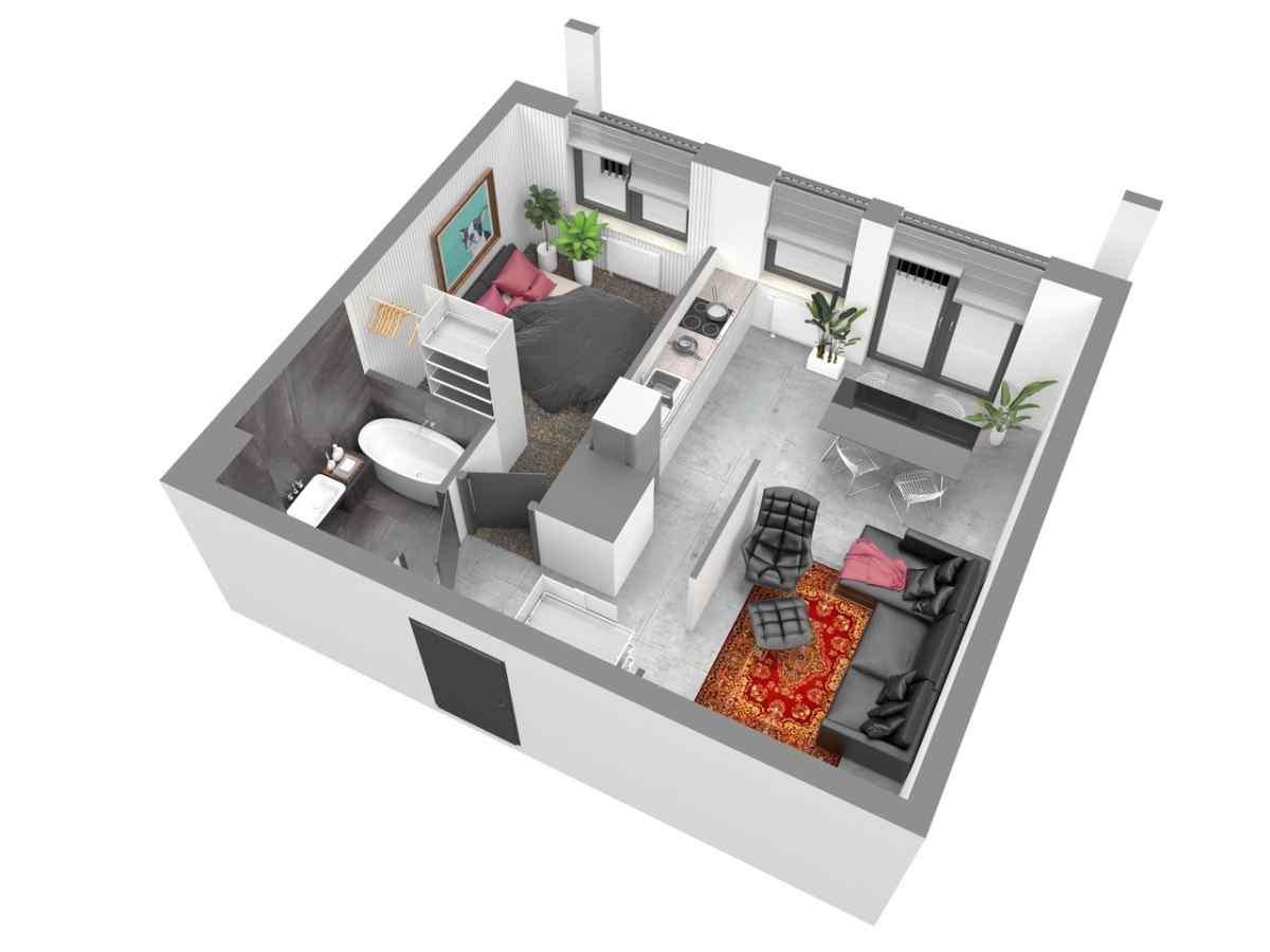 Mieszkanie 48,21 m2, Warszawska/Lubelska, Rzeszów